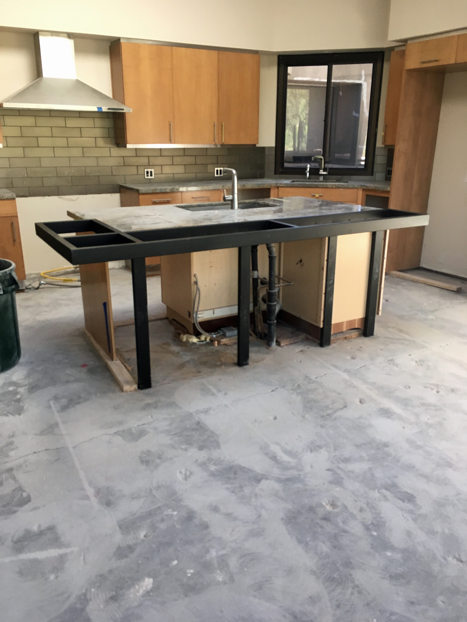 Kitchen island with bar top Build In Stove Kitchen Island Support Frame Milestone Homes Milestone Homes Kitchenislandbartopsupp